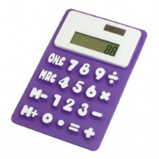 Dimart Silicone Magnetic Fridge Sticker 8 Digits Calculator, Purple/White