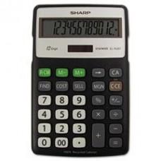 EL-R287BBK Recycled Series Calculator w/Kick-stand, 12-Digit, LCD, Black