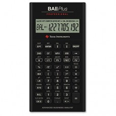 "Texas Instruments - Plus Professional Calculator,3""x6""x3/5"",32 Cash Flows, Sold as 1 Each, TEX BAIIPLUSPRO"
