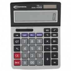 Innovera 15966 Minidesk Calculator, 12-Digit LCD IVR15968