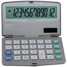 Royal XE36 Calculator with 12 Digit Display, Extra Large Display, Solar and Battery Power