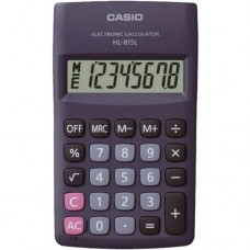 Casio HL-815L-BK-W PORTABLE TYPE Calculator with 8-digit Extra Big Display