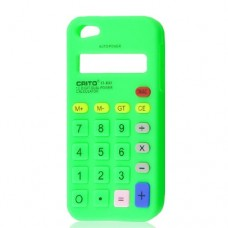 Green Calculator Design Soft Silicone Case Cover Skin for Apple iPhone 5 5G