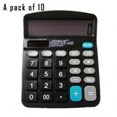 Pack of 10, JOINUS JS-837 Dual Power 12 Digit Calculator
