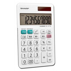Sharp Calculators EL-377WB Business Calculator, White 2.75