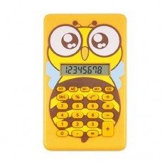 8 Digits LCD Display Bee Figure Mini Cartoon Calculator