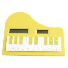 Dimart 8 Digits LCD Display Piano Electronic Calculator, White/Yellow