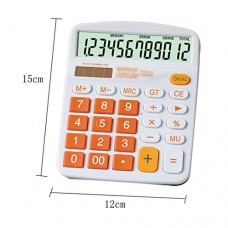 Kennedy Cute Cartoon Colorful 12 Digit Calculator With Large Button For Office & Home Use(Orange)