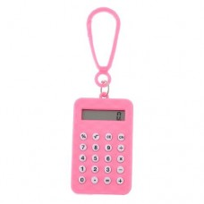 Dimart Plastic Pink Shell Rectangle Shaped Mini Electronic Calculator