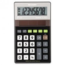 - EL-R277BBK Recycled Series Handheld Calculator, 8-Digit LCD