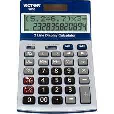 VCT9800 - Victor 9800 Easy Check Two-Line Calculator,BLUE SILVER