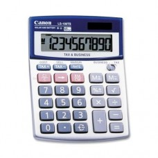 "Canon 10-Digit Calculator, Dual Power,4-1/4""x5-1/3""x1-1/4"", Blue (LS100TS)"