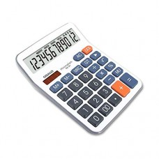 Aibecy 12-Digit LCD Desktop Calculator Solar-powered and Battery-powered Tool Gift for Office Home Store