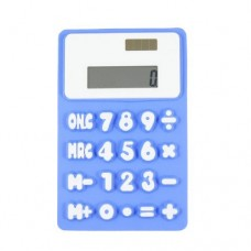Dimart Blue White 8 Digit 20 Button Soft Silicone Flexible Calculator