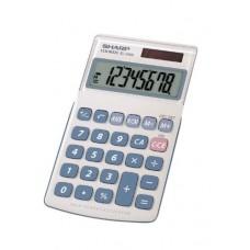 Sharp HO EL240SAB 8 Digit Solar and Battery Powered Slant Display Calculator