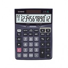 Casio(R) Check Correct Desk Calculator, 1.37in. x 5.51in. x 7.51in, Black, DJ120D