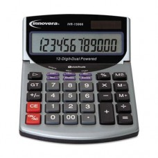 INNOVERA 15966 15966 Minidesk Calculator, 12-Digit LCD