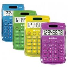 Teledex Inc DH-60-C Ice Color Dual Power Handheld Calculator