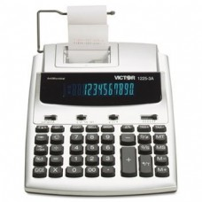 Victor 1225-3A Antimicrobial Desktop Calculator, 12-Digit Fluorescent, 2-Color Printing by Victor