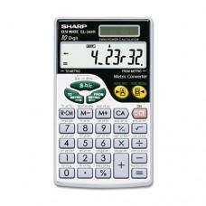 Sharp - EL344RB Metric Conversion Wallet Calculator, 10-Digit LCD EL344RB (DMi EA