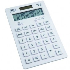 DL No.1657 Desktop 12-Digit Twin Powered Electronic Calculator (White)