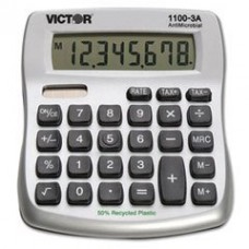 Victor 11003A 1100-3A Antimicrobial Compact Desktop Calculator, 10-Digit LCD