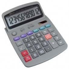 Low Vision Dual Memory Solar Desktop Calculator