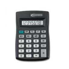 Innovera Pocket-Sized 8 Digit Calculator, Black