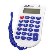 Dimart Neck String 23 Rubber Keys 8 Digit Pocket Calculator, Blue/White