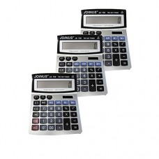 Pack of 3, JOINUS JS-769 Dual Power 12 Digit Calculator
