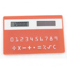 Portable Rectangle Card Design 8 Digital LCD Display Pocket Calculator Orange