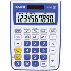 Casio MS-10VC Standard Function Calculator, Blue