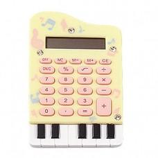 Soft Keypad 8 Digits Yellow Piano Electronic Calculator