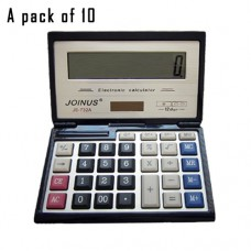 Pack of 10, JOINUS JS-732A Dual Power Executive Foldable Style 12 Digit basic Calculator