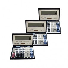 Pack of 3, JOINUS JS-732A Dual Power Executive Foldable Style 12 Digit basic Calculator