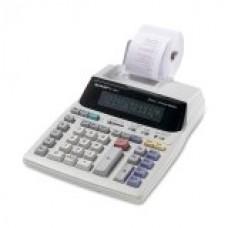 Sharp Electronics Corp EL1801V Portable 12-Digit 2-Color Serial Printing Calculator