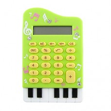 Dimart Green Plastic Case 8 Digits LCD Display Piano Design Calculator