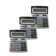 Pack of 3, JOINUS JS-766 Dual Power 12 Digit Calculator