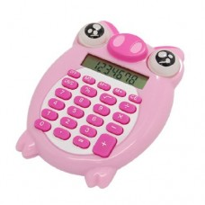 Dimart Mini Pig Plastic 8 Digits Electronic Calculator, Pink