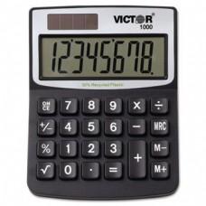 ** 1000 Minidesk Calculator, Solar/Battery, 8-Digit Display, Black **