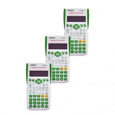 Pack of 3, JOINUS JS-82MS-3 10 Digit And 2-Line Scientific Calculator-White