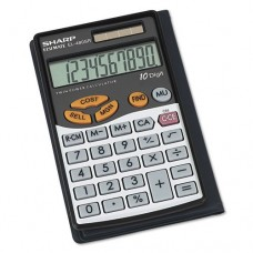 Sharp - EL480SRB Handheld Business Calculator, 10-Digit LCD EL480SRB (DMi EA