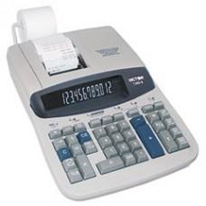 * 1560-6 Two-Color Ribbon Printing Calculator, 12-Digit Fluorescent, Bla