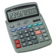 Innovera 15971 - 15971 Large Digit Commercial Calculator, 12-Digit LCD, Dual Power, Silver