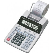 Sharp EL1750V EL-1750V Two-Color Printing Calculator Black/Red Print 2 Lines/Sec