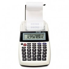 Victor 12054 1205-4 Palm/Desktop One-Color Printing Calculator, Black Print, 2 Lines/Sec