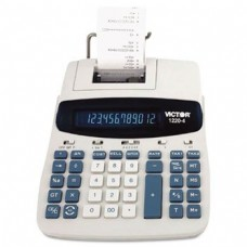 Victor 12204 - 1220-4 Two-Color Tax Key Printing Calculator, 12-Digit Fluorescent, Black/Red