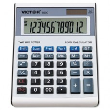 * 6500 Executive Desktop Loan Calculator, 12-Digit LCD, Black/Silver