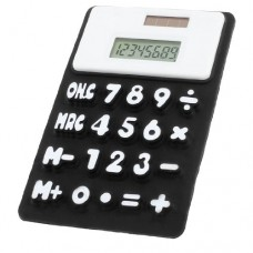 Students Rectangle Design 8 Digits Foldable Calculator White Black