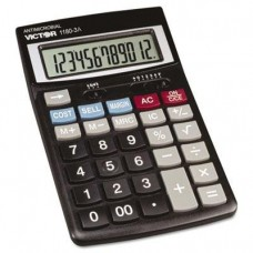 Victor 11803A 1180-3A Antimicrobial Desktop Calculator, 12-Digit LCD